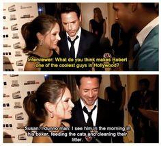 Hahaha! Robert Downey Jr. & his wife