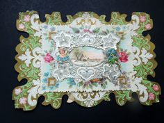Victorian Edwardian Valentine Card Pop Up Die Cut 3D Embossed Lace Ephemera Day Wedding Anniversary Birthday Collector Gift by Passion4Europe on Etsy