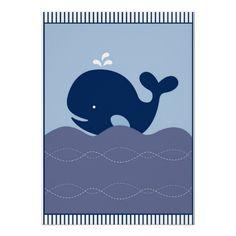 Nautical Whale Boys Nursery Wall Art Print