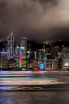 Hong Kong Harbour - my favourite view with a glass of cloudy bay in the intercontinental! Hong Kong, World Cities, Best Cities, Shanghai, Vietnam, Night City, Asia, City Lights, Historical Sites