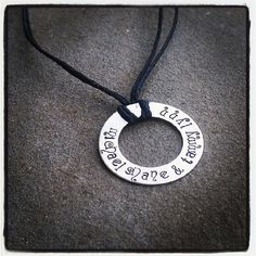 Personalized Hand Stamped Silver WASHER TAG by SoBeautifullyBroken, $17.00