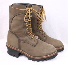 """RED WING 2292 10"""" Logger Lineman Brown Leather Insulated Gore-tex Boot Men 7.5 D #RedWing #WorkSafety"""