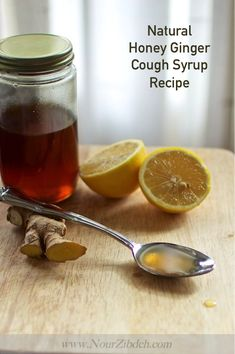 Hiney Ginger Cough Syrup with text Toddler Cough Remedies, Cold And Cough Remedies, Home Remedy For Cough, Cold Home Remedies, Natural Remedies For Anxiety, Natural Cures, Herbal Remedies, Natural Health, Health Remedies