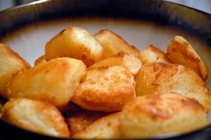 British-Style Roasties: A Whole New Potato These roasted potatoes are classic in the UK but unbeknownst to most Americans, so I'm going to introduce you. Meet the crispy, creamy, decadent rock stars of the potato world.  Recipe post by Kim Laidlaw. Photos: Wendy Goodfriend