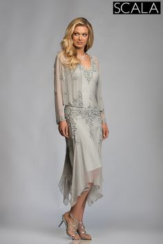 Scala Mother of the Bride 25360 Silver also available in Lead, Olive, Plum, Midnight Blue & Rose    REALLY REALLY LOVE THIS  and found several bridal shops that carry SCALA... in VT NH and MA.