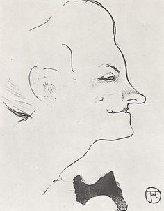 Анри де Тулуз-Лотрек.Серия «Кафешантан», Иветт Гильбер. 1893.