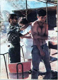 Captured Greek Cyprus Soldier after Turkish Invasion of Cyprus in medical examination in Turkey/Adana, 1974.