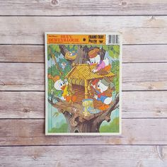 New in The Book Cottage: Walt Disney Huey Dewey and Louie  Tree House Frame Tray Puzzle  1980s Donald Nephews  Cute Kids Toy 80s Disney  Young Kids Puzzle Fun by TheBookCottage