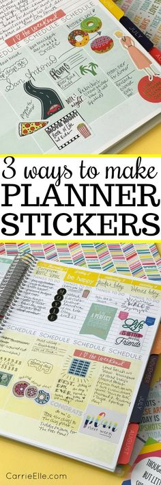 How to Make Your Own Planner Stickers via @carrieelleblog