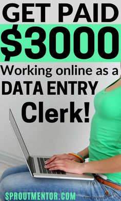 These data entry jobs are some of the simplest ways of making money online while you work from home during your spare time. Data entry is a high paying typing job for beginners even those without a college a degree. #dataentryjobs #onlinejobs #workfromhomejobs #sidejobs #parttimejobs #money #finance #stayathomejobs #makemoneyonline