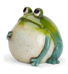 Big Belly Ceramic Frog Statue – Hobbies paining body for kids and adult Pottery Animals, Ceramic Animals, Clay Animals, Frog Statues, Garden Statues, Animal Statues, Pottery Sculpture, Sculpture Clay, Sculpture Ideas