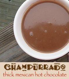 Champurrado is a Mexican hot chocolate married with an atole, a traditional masa-based Mexican hot drink. Masa harina is used to thicken this rich drink. Crockpot Hot Chocolate, Hot Chocolate Bars, Hot Chocolate Recipes, Delicious Chocolate, Mexican Drinks, Mexican Food Recipes, Mexican Desserts, Fudge, Yummy Drinks
