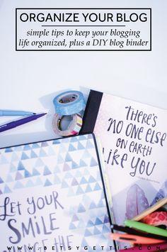 Organize Your Blog