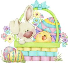 """Photo from album """"Easter Bunny Train"""" on Yandex. Easter Art, Easter Crafts, Holiday Crafts, Easter Eggs, Ostern Wallpaper, Easter Drawings, Easter Paintings, Easter Pictures, Clip Art"""