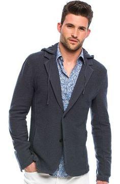 Hooded Blazer Jacket - Date Night - Mens - Armani Exchange $118.00