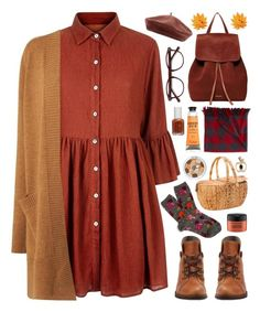 """Harvest Time"" by stavrolga ❤ liked on Polyvore featuring John Lewis, Mela Loves London, L.K.Bennett, EyeBuyDirect.com, Vera Bradley, Mansur Gavriel, Accessorize, L.L.Bean, Essie and MAC Cosmetics"
