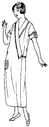 Past Patterns: #5362: Ladies' One-piece Wrap-around House Dress: Circa 1925-1926