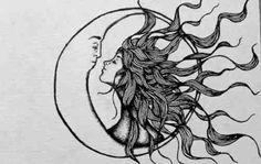 Kreatives Paar - atemberaubende Sonne und Mond Tattoo Ideen - Fotos Source by livingly Tattoo Mond, Paar Tattoo, Tatoo Art, Body Art Tattoos, Tatoos, Sleeve Tattoos, Son Tattoos, Tattoo Music, Friend Tattoos