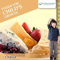 #Cheese is great for healthy bone growth. It's filled with protein, calcium, phosphorous and vitamin D. #Calcium and #vitamin D aids in boosting the height of your child substantially. So include dairy foods, such as cheese, yoghurt, and cottage cheese, in the diet to help your child have good height. #ChildHeight