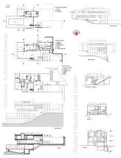 Lovell Health House Plans Richard Neutra Architecture