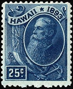 Postage stamp ~ Hawaii 1893