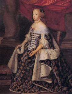 Maria Theresa of Spain. Queen of France and the first wife of King Louis XIV