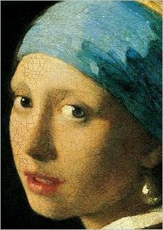 Earing  The Young Woman wearing a Turban (detail)  Johannes Vermeer