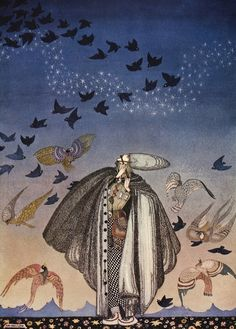 """magictransistor: """" Kay Nielsen, East of the Sun and West of the Moon, 1914. """""""