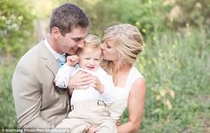 Newlywed bliss: Heather Morris and her husband Taylor Hubell shared a moment with their so...