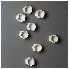 Gold Leaf Design Group, Wall Cubes, Barbie Box, Cream Walls, Cube Design, Visual Display, White Art, Three Dimensional, Art Forms