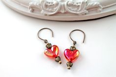 Queen of Hearts lolita earrings red heart by DinaFragola on Etsy