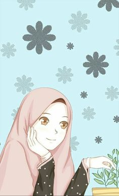 18 New ideas for wall paper cartoon anime wallpapers Cute Cartoon Girl, Couple Cartoon, Cartoon Art, Cartoon Images, Hijab Drawing, Islamic Cartoon, Hijab Cartoon, Islamic Girl, Cartoon Background