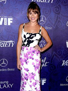 Star Tracks: Monday, August 25, 2014 | WHAT A PRINTS-ESS | Also at Saturday's Variety and Women in Film pre-Emmy bash: Lea Michele, who mixes it up (just check out her dress!) for the West Hollywood event.