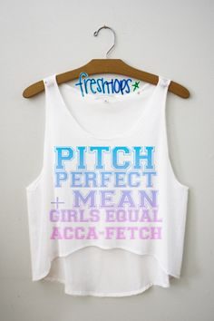 Pitch Perfect + Mean Girls Crop Top