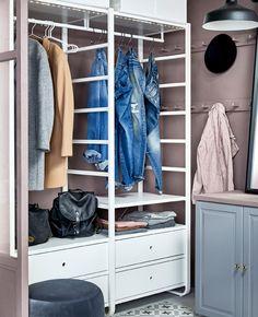 Popular Unser Aufbewahrungssystem ELVARLI l sst sich so leicht anpassen dass du damit beinahe jeden begehbaren Kleiderschrank