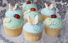 Ladybug & Butterfly Trail Cupcakes