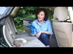 Easy Way to Get Rid of Pet Hair | Put on a cheap, disposable rubber glove, and rub the upholstery with it. The hair will cling to the glove. Take off the glove by turning it inside out, and then discard it along with the pet hair. This works on all car seats, but its best on cloth upholstery.
