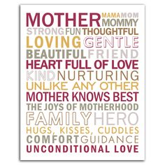 Mother Subway Art {Happy Mother's Day}