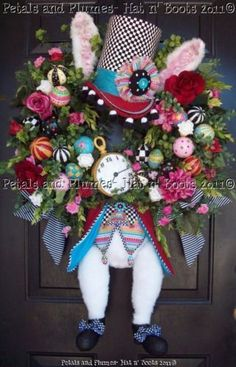 This is such a great idea for an Easter wreath. #MadHatter