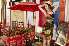 This season the Mr Lacroix line comes replete with ochre flowers. Descover this Dress. Desigual Spring Summer 2015.