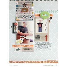 pixel craft // spencers scrapbook kit only  by gluestickgirl at Studio Calico