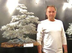 Bonsai in alluminio  esposto alla 9 edizione di Scultori a Palazzo  di  Cesano Maderno  MB ITALIA. 1300 metri di filo intreccito a mano