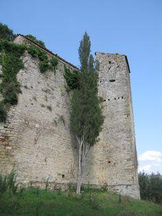 Il lato sud del Castello di Reschio è ancora in uno stato di buona conservazione. Fu a lungo conteso dalle Signorie di Perugia, Firenze e Città di Castello, per la sua posizione strategica.