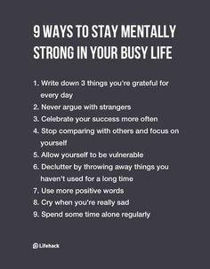 mentally strong V