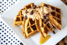 Carrot Cake Waffles with Cinnamon Maple Cream Cheese Spread Recipe on Yummly. @yummly #recipe