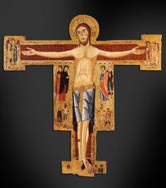 Siena (Italia) - Santuario Casa di Santa Caterina da Siena - Chiesa Crocifisso - Ambito pisano - Croce dipinta - fine sec. XIII