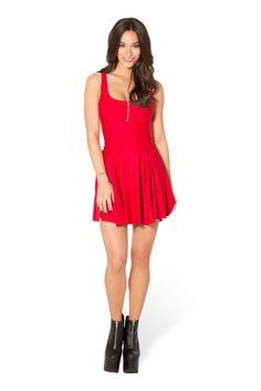 Matte Red Evil Zip Dress (WW $80AUD / US $75USD) by Black Milk Clothing