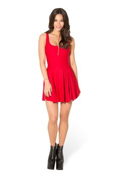 Matte Red Evil Zip Dress (WW $80AUD / US $75USD) by Black Milk Clothing
