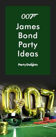 Throw a glamorous James Bond themed party with our James Bond party ideas inspired by agent 007 and Casino Royale! Perfect for adult birthdays and New Year's Eve celebrations.                                                                                                                                                                                 More