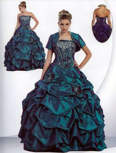 Modest Formal Ballgown or Prom Dress, No. 28 (Teal, Purple, White, Fuchsia). $229.00, via Etsy. So pretty want it!!!